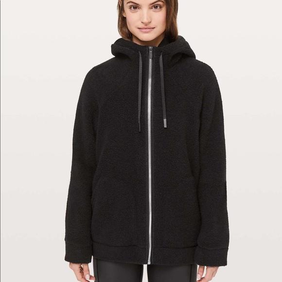 Lululemon So Sherpa Hooded Jacket Sz 4